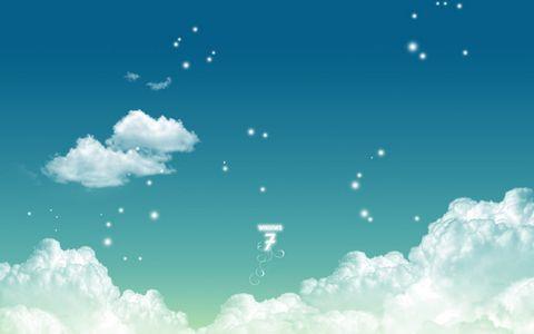 卡通白云背景