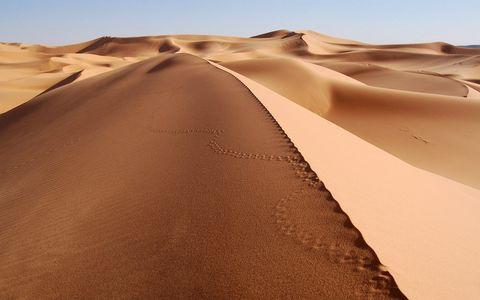 沙漠里的沙丘