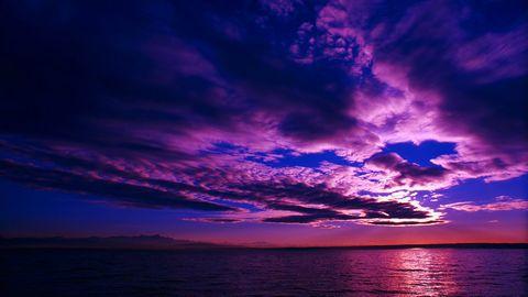 大海与彩霞风景