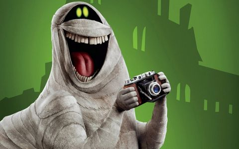 拿相机拍照的卡通动物