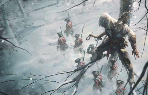 冬季树林里的士兵