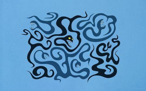 卡通蛇动物背景