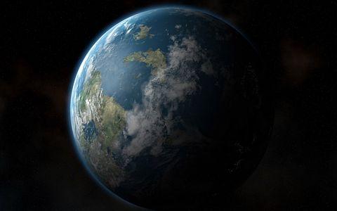 绿色地球摄影壁纸