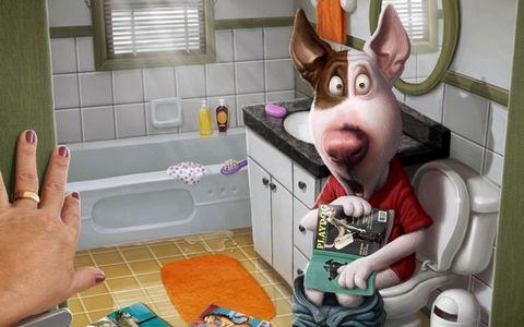 卫生间卡通动物