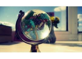 水晶地球仪摄影